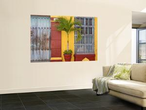 Colombia, Bolivar, Cartagena De Indias, Old Walled City, Windows of Colonial House by Jane Sweeney