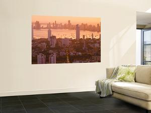 Colombia, Bolivar, Cartagena De Indias, View of Cartagena Skyline at Sunset by Jane Sweeney