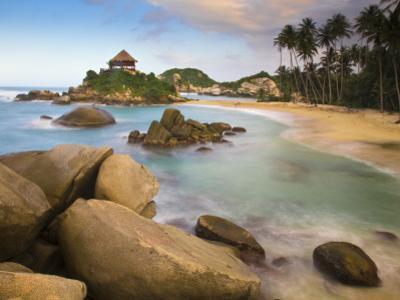 Colombia, Magdalena, Park Nacional Natural Tayrona, El Cabo, Beach by Jane Sweeney