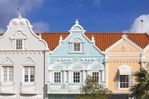 Colonial Dutch Architechure Near Main Street, Oranjestad, Aruba, Netherlands Antilles, Caribbean by Jane Sweeney