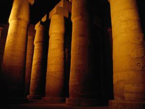 Columns in Temple of Amon-Ra, Karnak, Luxor, Egypt by Jane Sweeney