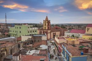 Cuba, Camaguey, Camaguey Province, City Looking Towards Iglesia De Nuestra Señora De La Soledad by Jane Sweeney