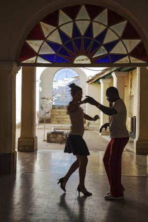 Cuba, Trinidad, Casa De Culture, Couple Salsa Dancing by Jane Sweeney