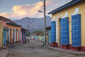 Cuba, Trinidad, Colourful Street in Historical Center by Jane Sweeney