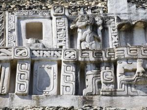 Frieze, 130Ft High El Castillo, Xunantunich Ruins, San Ignacio, Belize by Jane Sweeney