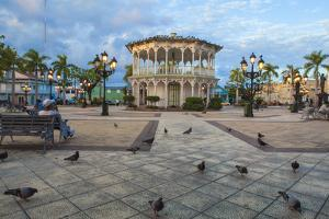 Gazebo in Central Park, Puerto Plata, Dominican Republic, West Indies, Caribbean, Central America by Jane Sweeney
