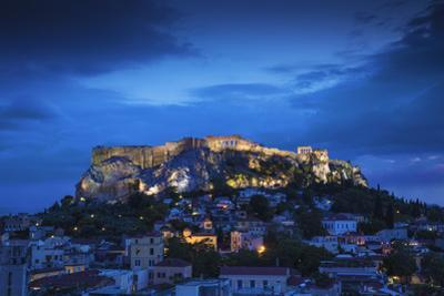 Greece, Attica, Athens, View of Plaka and the Acropolis by Jane Sweeney