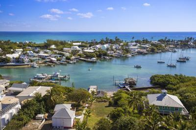 Habour, Hope Town, Elbow Cay, Abaco Islands, Bahamas, West Indies, Central America by Jane Sweeney
