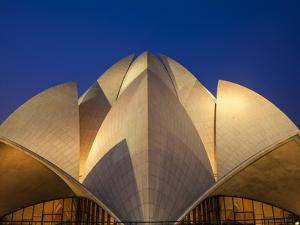 India, Delhi, New Delhi, Bahai House of Worship Know As the The Lotus Temple by Jane Sweeney