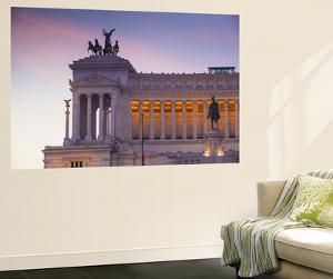 Italy, Lazio, Rome, Piazza Venezia, View Looking Towards Vittorio Emanuele Ii Monumen by Jane Sweeney