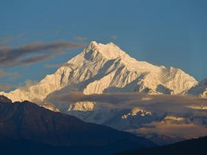 Kangchendzonga Range, View of Kanchenjunga, Ganesh Tok Viewpoint, Gangtok, Sikkim, India by Jane Sweeney
