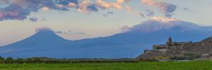 Khor Virap Armenian Apostolic Church Monastery and Ararat Plain by Jane Sweeney