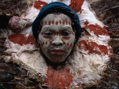 Kikuyu Man in Ceremonial Dress, Kenya by Jane Sweeney