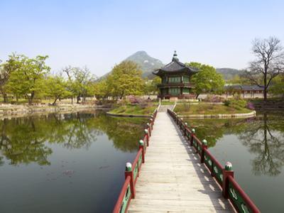 Korea, Seoul, Gyeongbokgung Palace, Hyangwonjeong Pavilion by Jane Sweeney