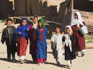 Local Children, Yakawlang, Afghanistan by Jane Sweeney