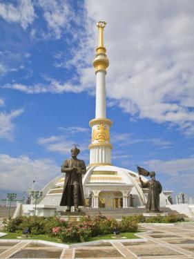 Monument to the Independence of Turkmenistan, Independance Park, Berzengi Ashgabat, Turkmenistan by Jane Sweeney