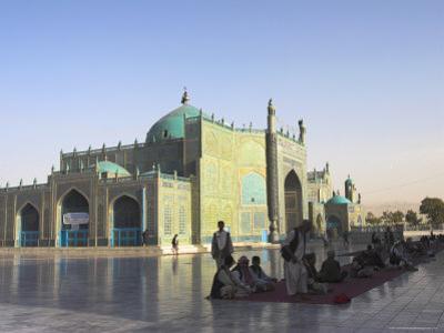 Pilgrims at the Shrine of Hazrat Ali, Mazar-I-Sharif, Afghanistan by Jane Sweeney