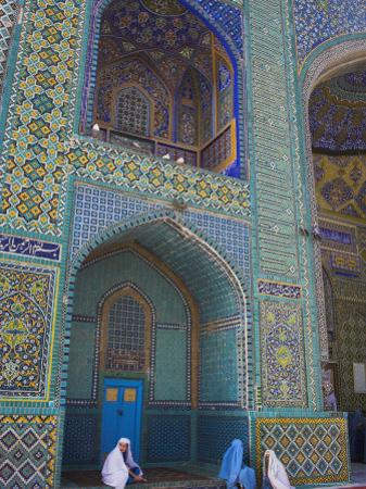 Pilgrims at the Shrine of Hazrat Ali, Who was Assassinated in 661, Mazar-I-Sharif, Afghanistan by Jane Sweeney