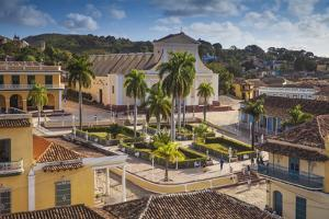Plaza Mayor Looking Towards Iglesia Parroquial De La Santisima Trinidad (Church of Holy Trinity) by Jane Sweeney