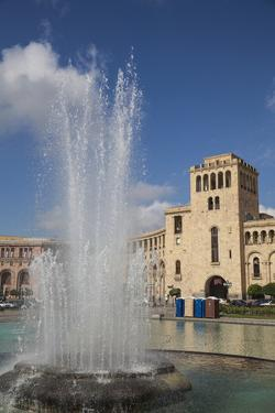 Republic Square, Yerevan, Armenia, Central Asia, Asia by Jane Sweeney