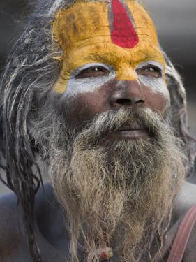 Sadhu, Shivaratri Festival, Pashupatinath Temple, Kathmandu, Nepal by Jane Sweeney