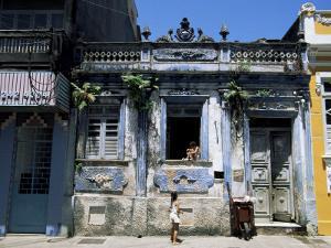 Street, Cidade Alta, Salvador, Bahia, Brazil, South America by Jane Sweeney