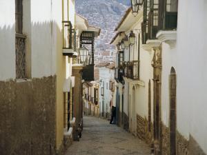 Street Scene, La Paz, Bolivia, South America by Jane Sweeney