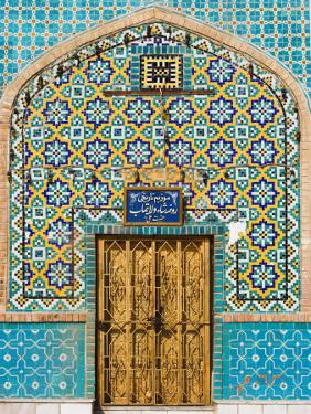 Tiling Around Door, Shrine of Hazrat Ali, Mazar-I-Sharif, Afghanistan by Jane Sweeney