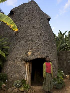 Traditional Beehive House of the Dorze People Made Entirely from Organic Materials, Ethiopia by Jane Sweeney