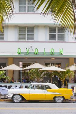 U.S.A, Miami, Miami Beach, South Beach, Ocean Drive by Jane Sweeney