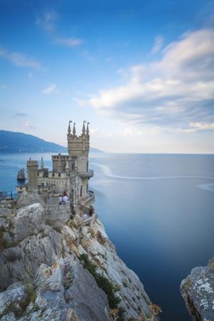 Ukraine, Crimea, Yalta, Gaspra, the Swallow's Nest Castle Perched on Aurora Clff by Jane Sweeney