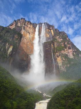 Venezuela, Guayana, Canaima National Park, View of Angel Falls from Mirador Laime by Jane Sweeney