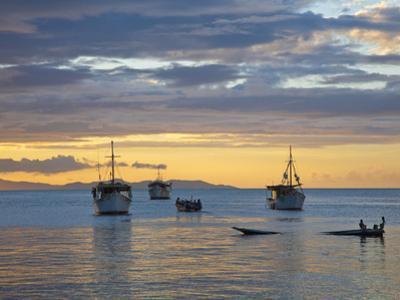 Venezuela, Nueva Esparta, Isla De Margarita - Margarita Island, Juangriego, Sunset over Juangreigo  by Jane Sweeney