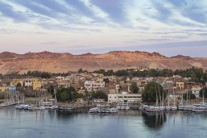 View of The River Nile and Nubian village on Elephantine Island, Aswan, Upper Egypt, Egypt, North A by Jane Sweeney