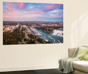 View over Victoria Park Towards Rainbow Bridge and the American Falls, Niagara Falls by Jane Sweeney