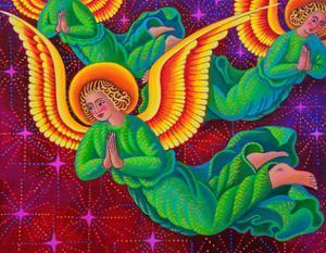 Angels in green by Jane Tattersfield