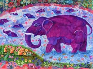 Elephant and mice, 1998, by Jane Tattersfield
