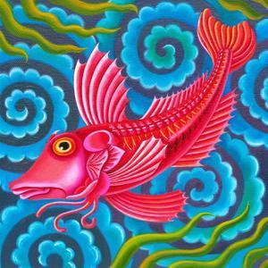 Gurnard fish by Jane Tattersfield