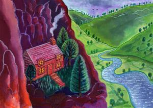 House in the Mountains,2002, by Jane Tattersfield