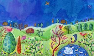 Landscape with swan, 2002, by Jane Tattersfield