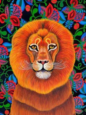 Lion, 2020, (oil on canvas) by Jane Tattersfield