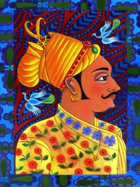 Maharaja with Blue Birds, 2011 by Jane Tattersfield
