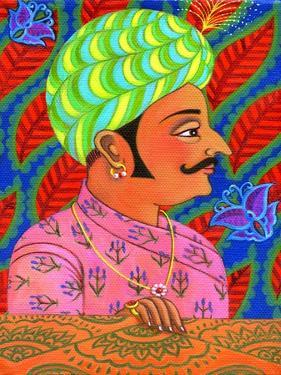 Maharaja with Butterflies, 2011 by Jane Tattersfield