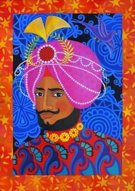 Maharaja with Pink Turban, 2012 by Jane Tattersfield