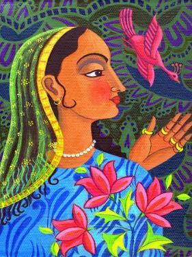 Maharani with Magenta Bird, 2011 by Jane Tattersfield