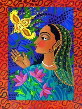 Maharani with Yellow Bird, 2011 by Jane Tattersfield
