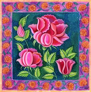 Pink flowers, 1997 by Jane Tattersfield