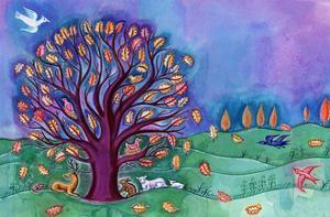 Tree in Autumn, 2002, by Jane Tattersfield