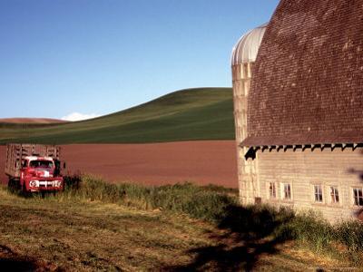 Barn and Truck in Palouse Area, Washington, USA