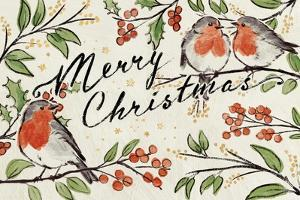 Christmas Lovebirds I by Janelle Penner